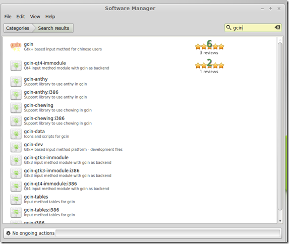 31 Dec 2013 Linux Mint - Software Manager - Search GCIN package